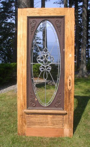 Architectural antiquities 70 oak 90 leaded glass entry door oak 90 leaded glass entry door eventshaper
