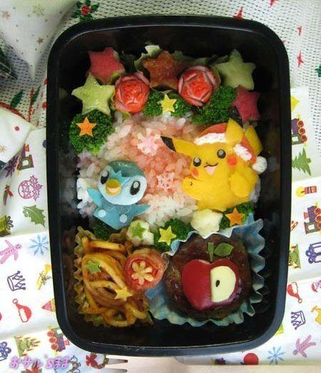 Pokemon Christmas Bento Box Pikachu Kawaii Food Blog