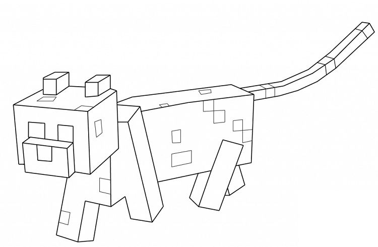 Minecraft Coloring Pages Wolf Minecraft Coloring Pages Minecraft Cat Cat Coloring Page