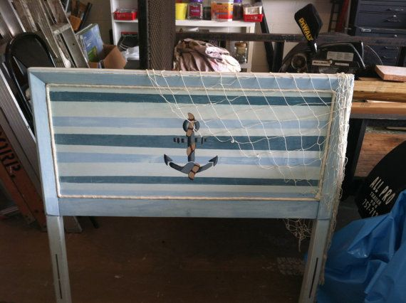 Kids Distressed Nautical Headboard This Would Be So Cute In A Little Boy S Room Nautical Headboard Kids Headboard Nautical Bedroom