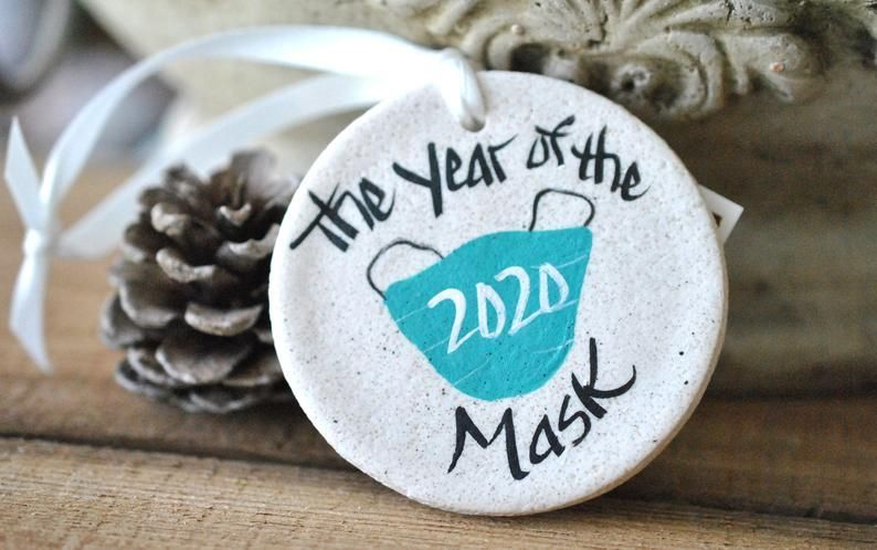 Year of the Mask 2020 annual Christmas salt dough ornament