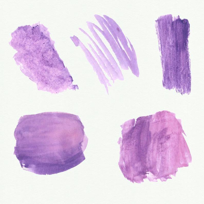Purple Watercolor Splash Clipart Purple Watercolor Brush Strokes Watercolor Splotches Logo Watercolor Elements Watercolor Splash Purple Watercolor Watercolor Brushes