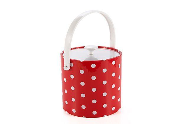Red Polka Dot Ice Bucket on OneKingsLane.com