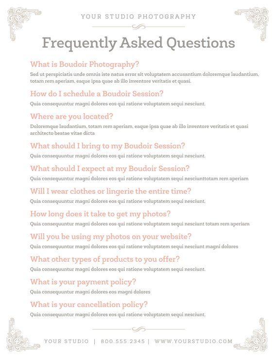 FAQ Marketing Template - QA Information Template - Brochure Flyer