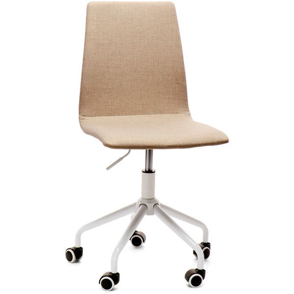 Idea Nuova Beige Swivel Desk Chair ($60) ❤ Liked On Polyvore Featuring Home,