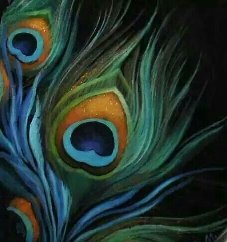Pin by cady johnson on art pinterest peacocks for Painting feathers on canvas