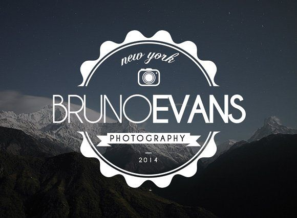 Premium Photography Hipster Logo Hipster logo, Logo templates and
