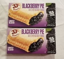2 JJs Bakery Lightly Glazed Blackberry Pies 4oz Yummy Fruit Pie Snack Dessert