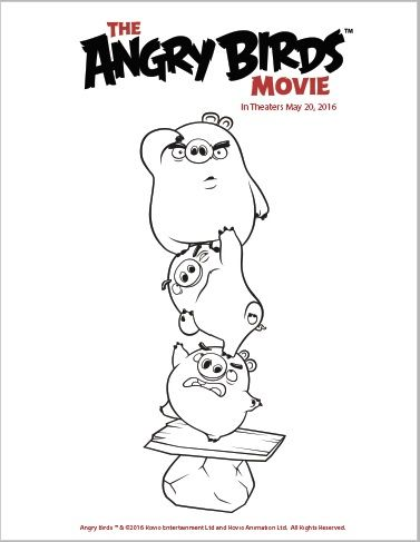 The angry birds movie is coming to theaters may 20th are your free printable coloring pages from the angry birds movie twin cities frugal mom pronofoot35fo Images
