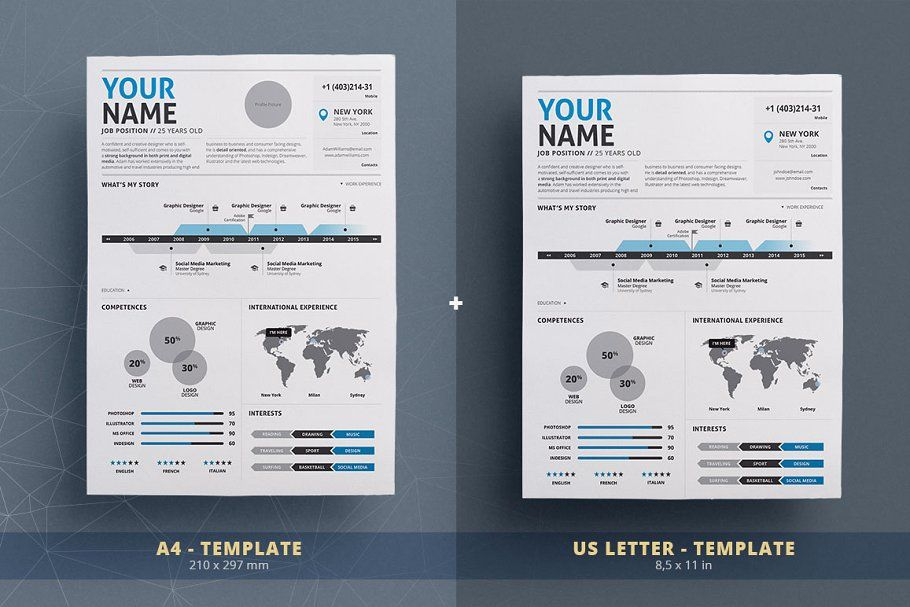 Infographic Resumecv Template Vol2 Cvresumeinfographic