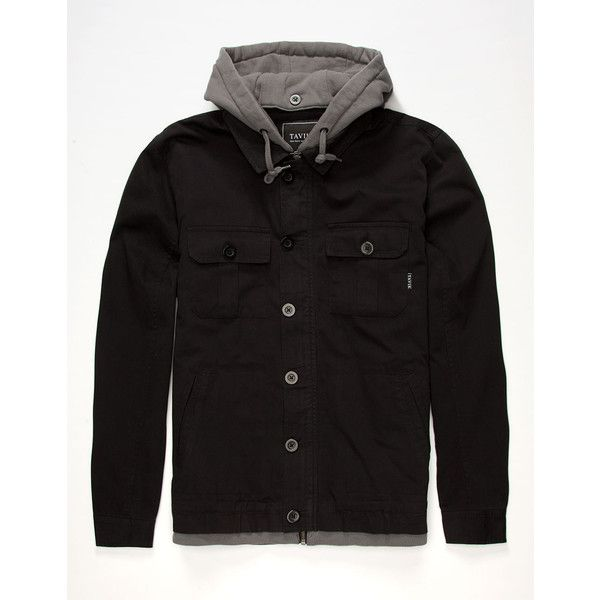 9def09cb88 Tavik Droogs Mens Hooded Jacket ( 100) ❤ liked on Polyvore featuring men s  fashion