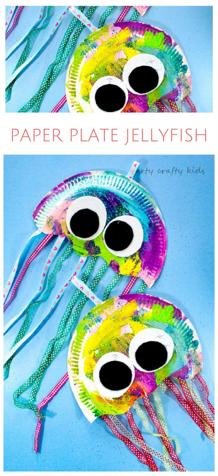 Paper Plate Jellyfish Craft Summer Camp Paper Plate Crafts For