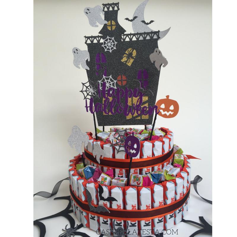 Bambino Barrette Kinder.Cake Topper Di Halloween Per Una Torta Di Barrette Kinder