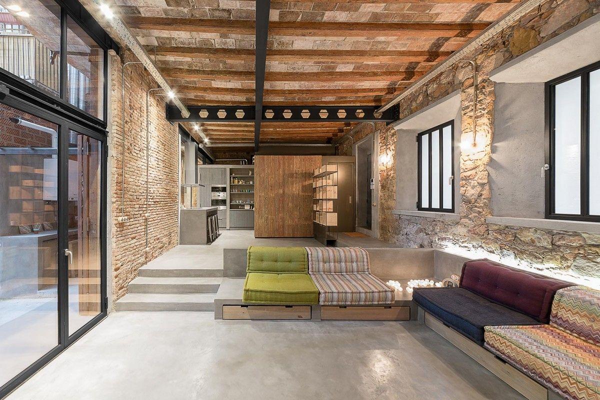Rustiek en Industrieel Barcelona - wonen voor mannen - rustiek ...