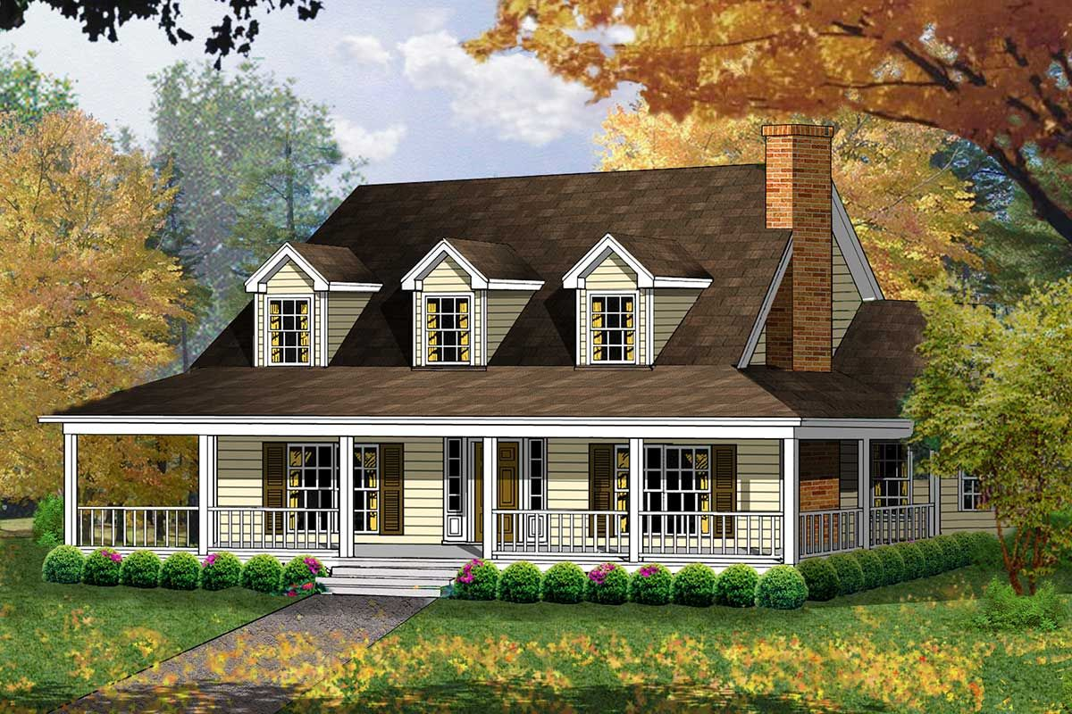 Plan 7476rd Four Bed Country Living At It S Finest In 2020 Country House Plans House Plans Craftsman House Plans