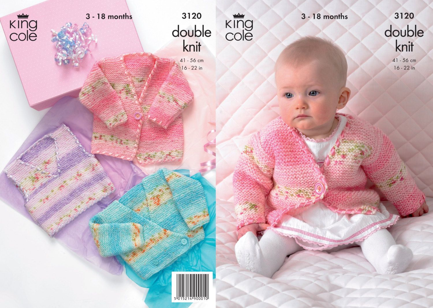 King cole double knit baby knitting pattern 3120 cardigantank king cole double knit baby knitting pattern 3120 cardigantank tops 3 18 months bankloansurffo Choice Image