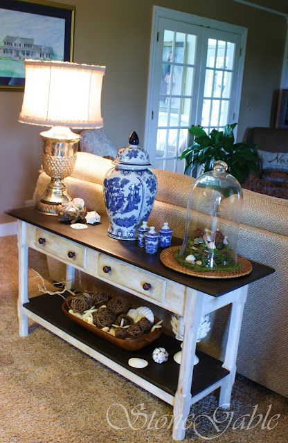 Painted Sofa Table Decor Couch Tables Hall