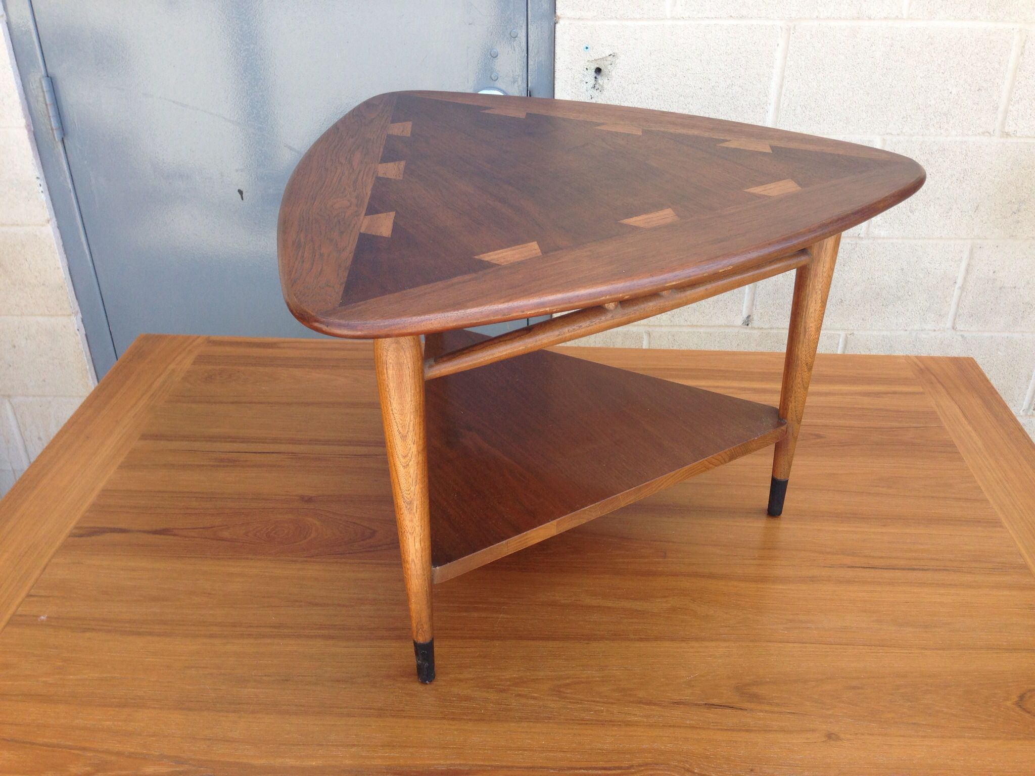 Mid century Lane guitar pick table