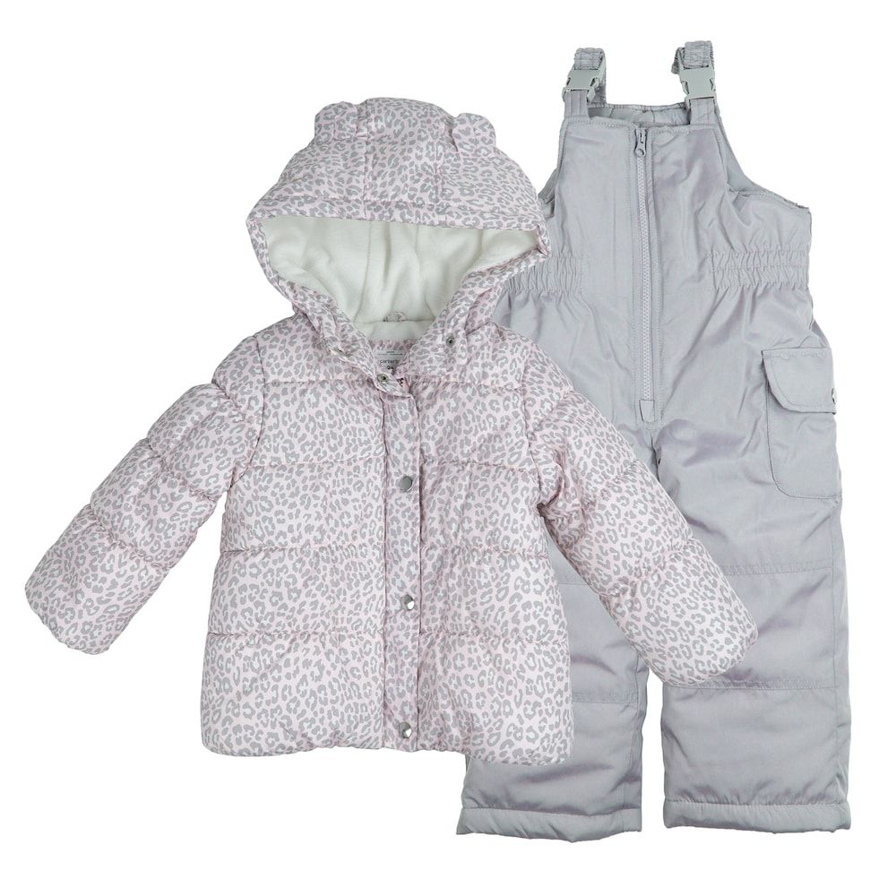 95219d759747 Baby Girl Carter s Heavyweight Jacket   Bib Snow Pants Set ...