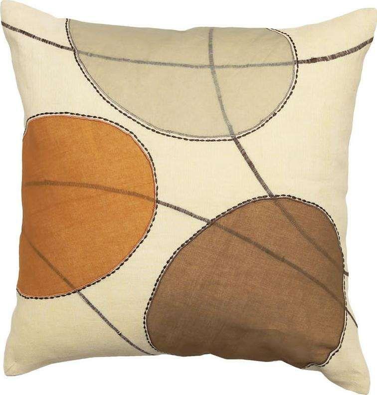 Cream Decorative Throw Pillow With Earth Tone Circles Set Of 40 Mesmerizing Earth Tone Decorative Pillows