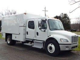 Freightliner M2 106 Crew Cab Arbortech Chip Box Work Truck Ford Transit Step Van