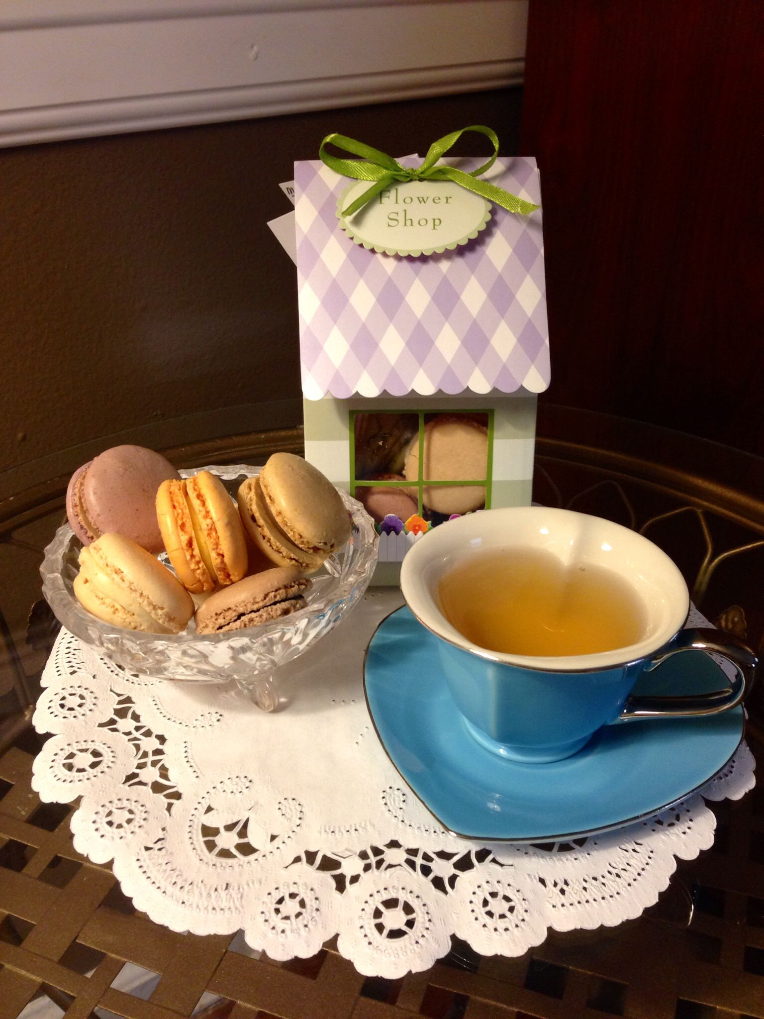 Afternoon tea with Macaroons