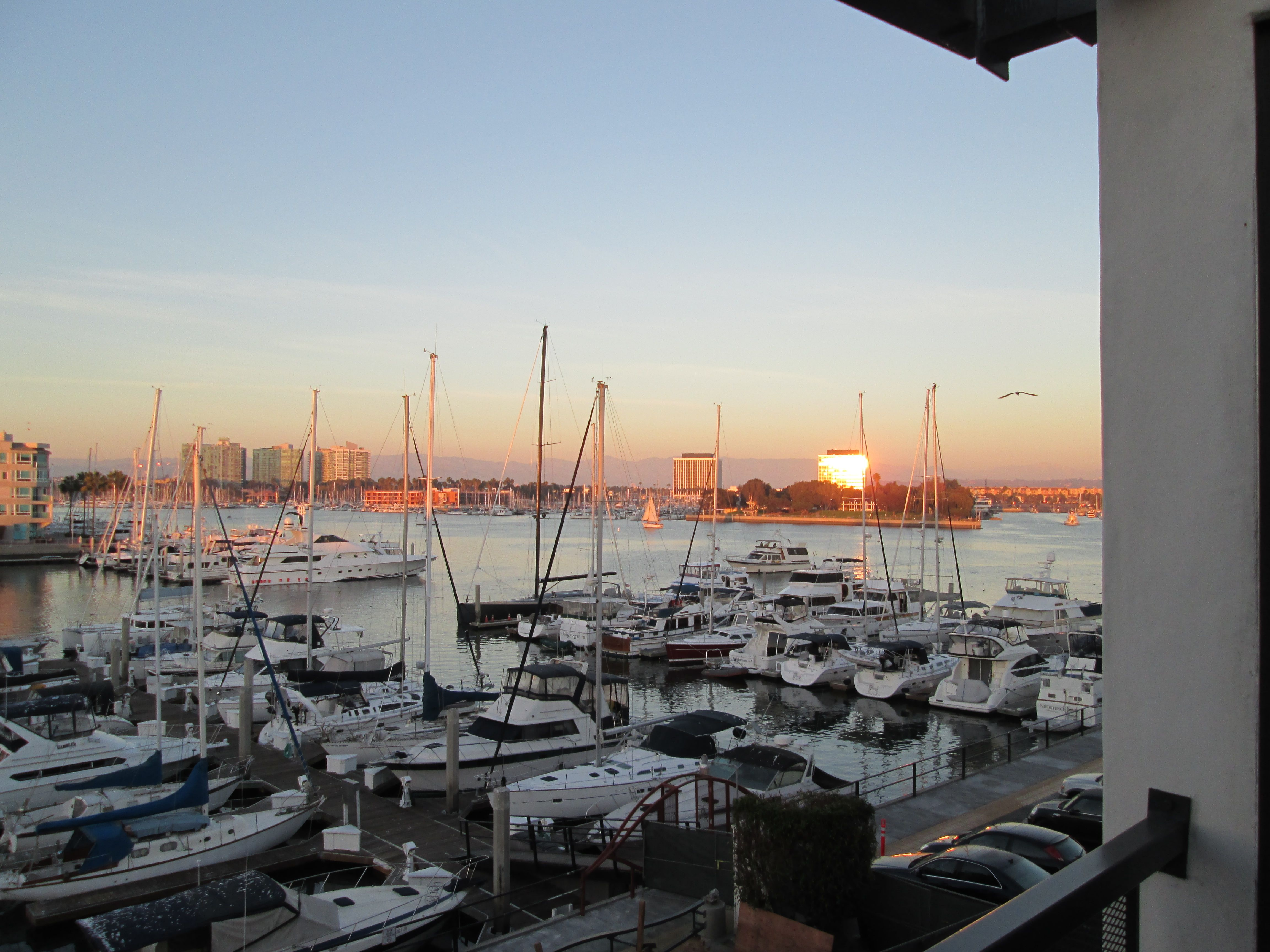 Marina Del Rey At Sunset Seen From The Window At Waves Mdr Waves