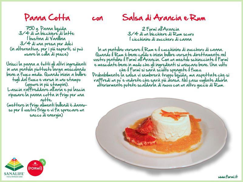Panna Cotta con salsa di Arancia e Rum