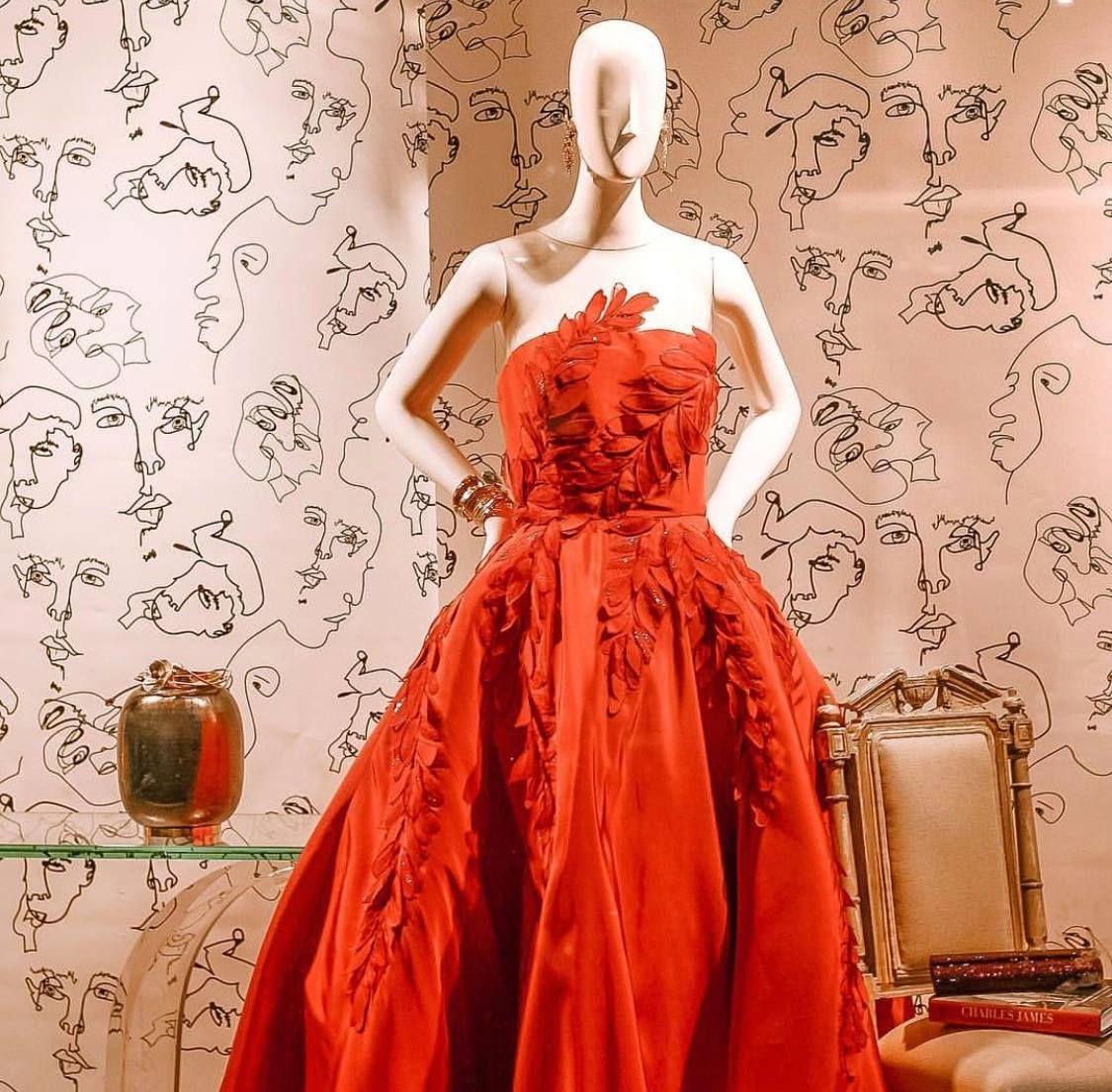 Olivia + Poppy display at Neiman Marcus Houston Poppy