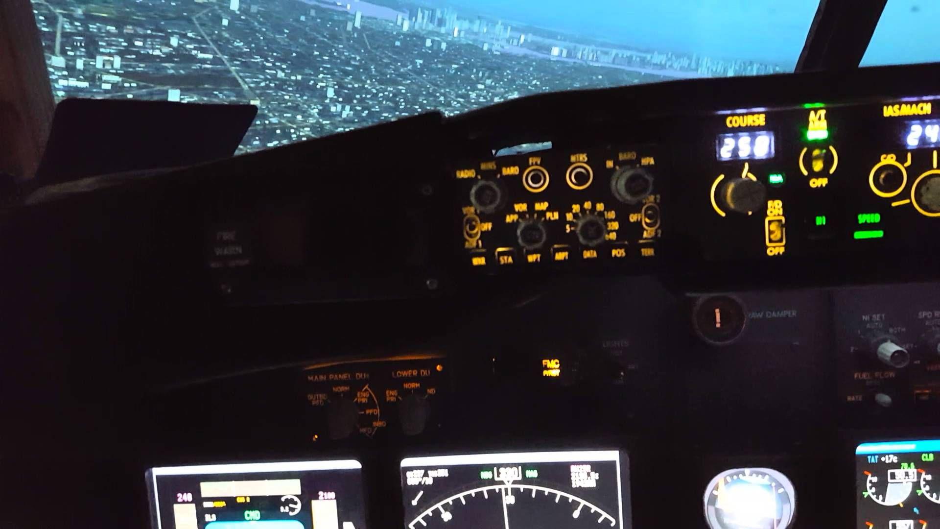 737-800 low-fly NYC FSX+Prosim737 Flight Simulator | Cockpit