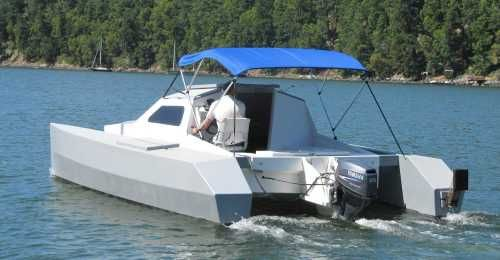 skoota 20   Skoota 20 Power Cat   Want a Boat   Boat, Boat building, Plywood boat plans