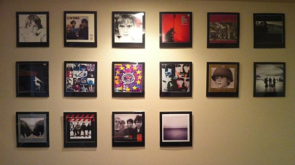 U2 Album Frames A Look At My Wall Of Album Covers Record Wall Display Wall Kitchen Decor Modern