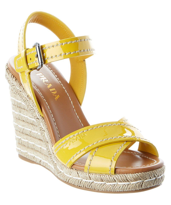 3538cdc4265 PRADA Patent Espadrille Wedge .  prada  shoes  sandals