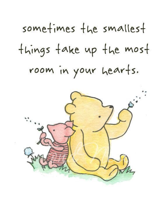 Winnie the Pooh Piglet Cute Quote Watercolor Art Painting Wall Decor ...