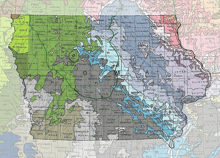 Geologic Maps Of The 50 United States Map Rock Hunting Iowa