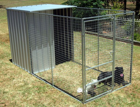 Dog pens kennels col western sheds very simple and for Cheap dog pens for outside