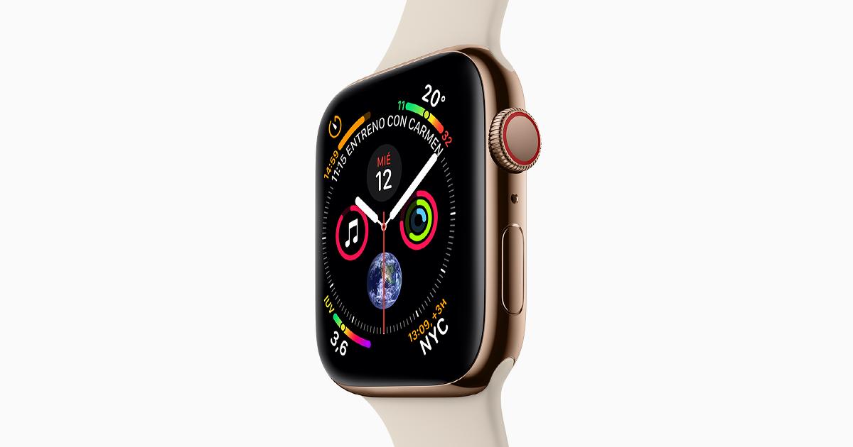 El Apple Watch Series 4 incluye una pantalla más grande