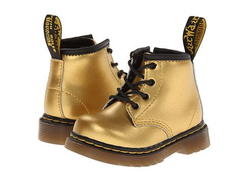 Dr Martens Kids Collection Brooklee B 4 Eye Lace Boot Toddler Gold Alumix