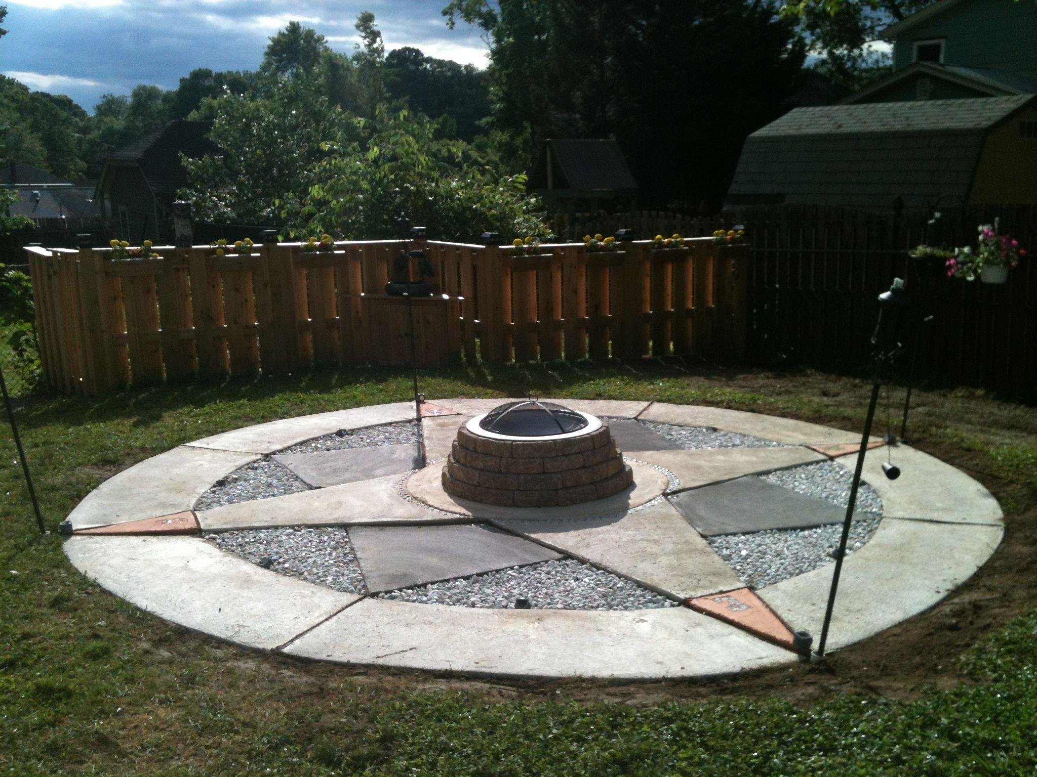 Compass fire pit