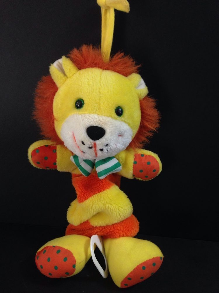 Kids Ii 10 1994 Yellow Paw Musical Lion Crib Pull Toy Plush You Are