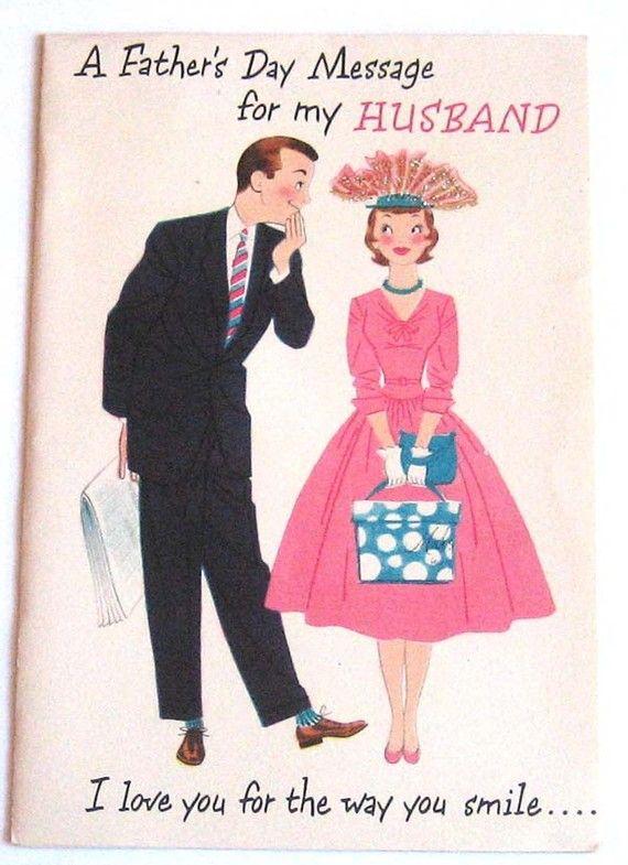 Vintage Husband Greeting Card