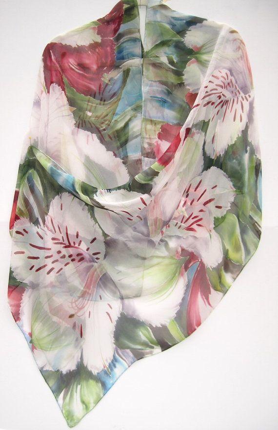 ALSTROEMERIA Silk Wrap Peruvian Lilies Summer Garden Hand