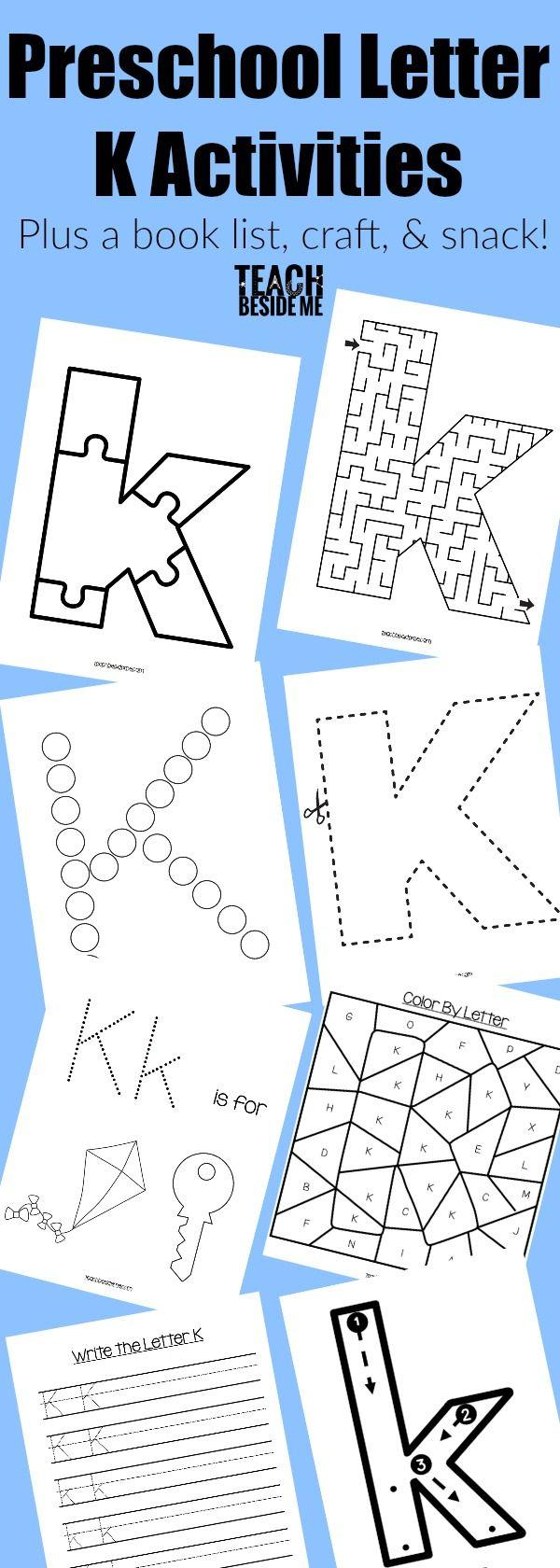 Letter of the week preschool letter k activities book lists preschool letter of the week curriculum letter k activities includes a letter k printable pack spiritdancerdesigns Gallery