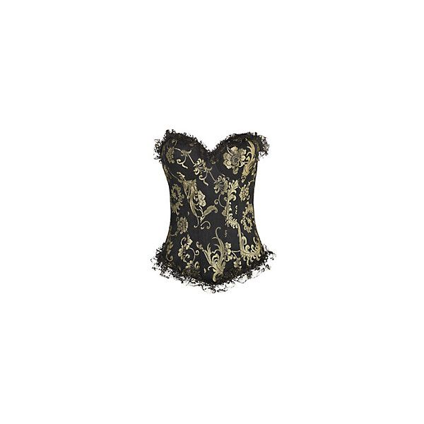 1e23c138844 Hannah Black Eyelash Lace Corset Bralet 20 liked on Polyvore