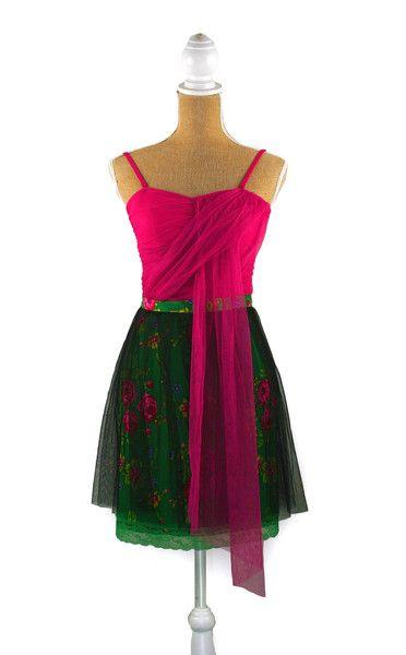 """2 Piece Set"" Tulle-Pink & Green- Custom | Recultured Designs"