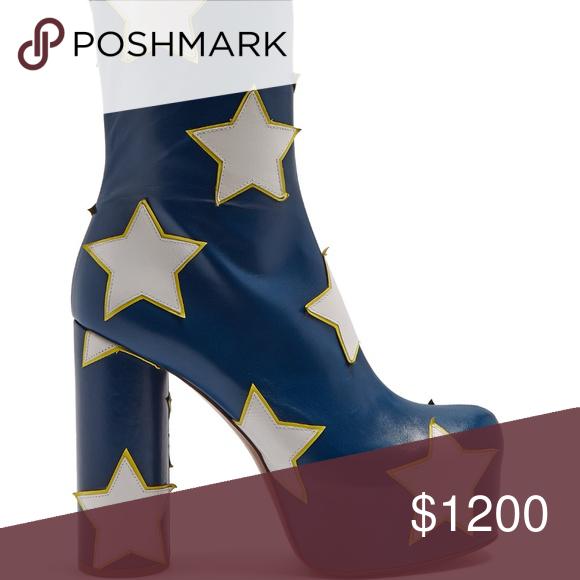 0e3b98026906d VETEMENTS Star Appliqué Block Heel Ankle Boots ❌❌❌ NO TRADES ❌❌❌ $2080