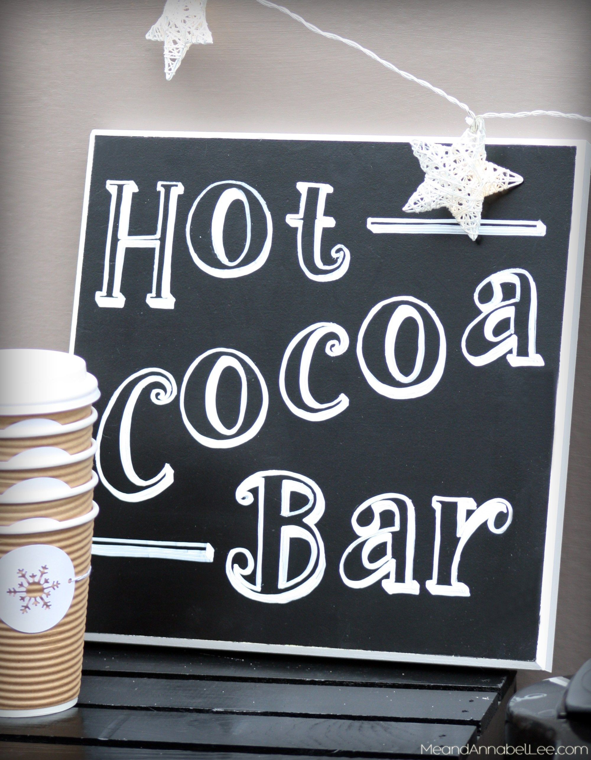 Hot Cocoa Bar, DIY Projects, Hot Chocolate Recipe #hotchocolaterecipe