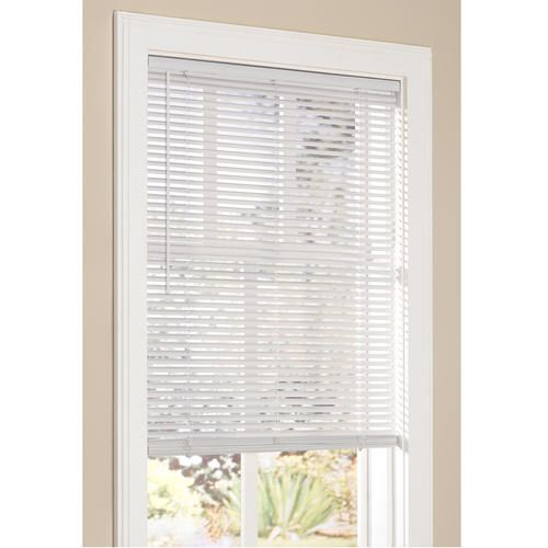 Intercrown 1 Light Filtering Vinyl Blind 64 Length At Menards Available In Alabaster And White Shown Charlton Home Blinds Home