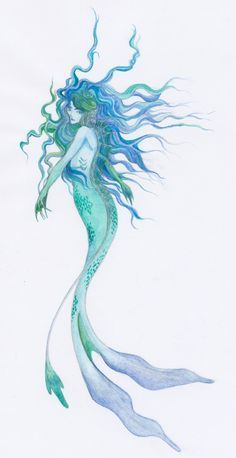abstract mermaid painting - Google Search…