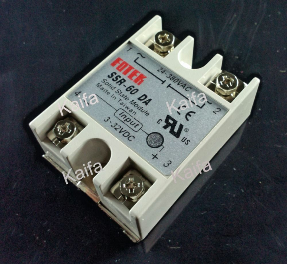 Solid State Relay SSR-60DA 60A 3-32VDC 24-380VAC SSR DC TO AC